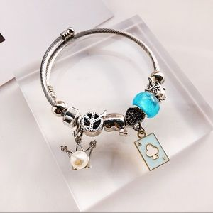 Jewelry - 🌟Charm Cute Blue Poker Bangle Bracelet